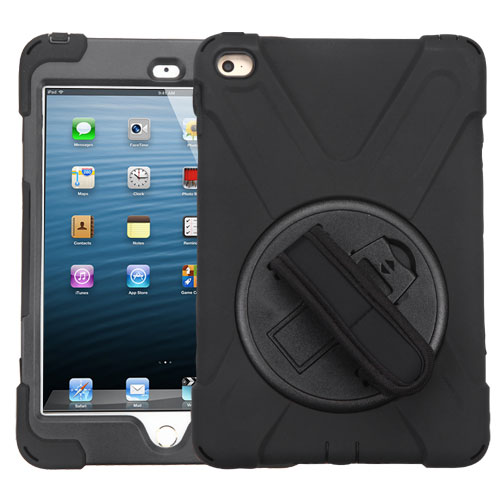Black/Black Rotatable Stand Protector Cover (with Wristband)