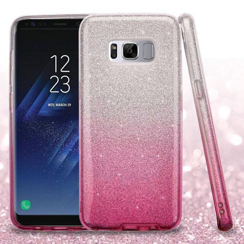 For Samsung Galaxy S8 Glitter Silicone Armor Hybrid Phone