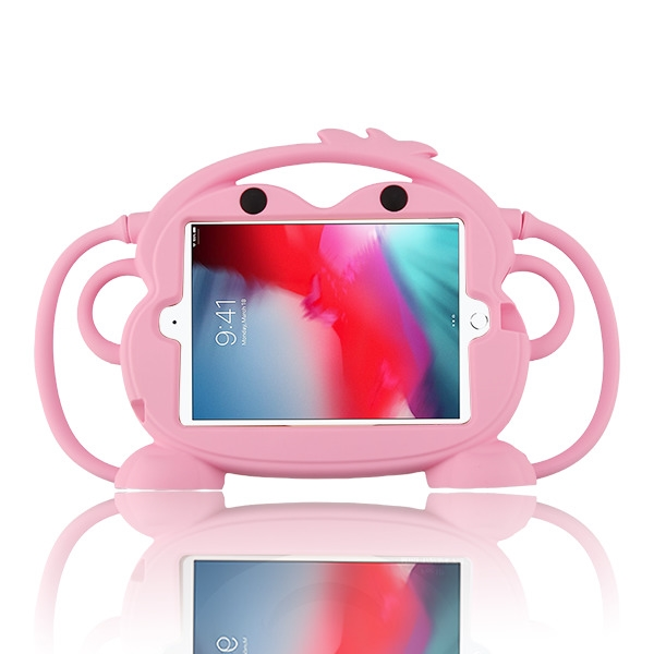 Pink Monkey Kids Drop-resistant Protector Cover(with Stand & Handheld & Hanging Function)