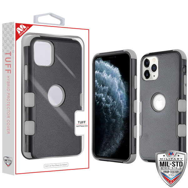 Natural Black/Iron Gray TUFF Hybrid Phone Protector Cover [Military-Grade Certified](with Package)