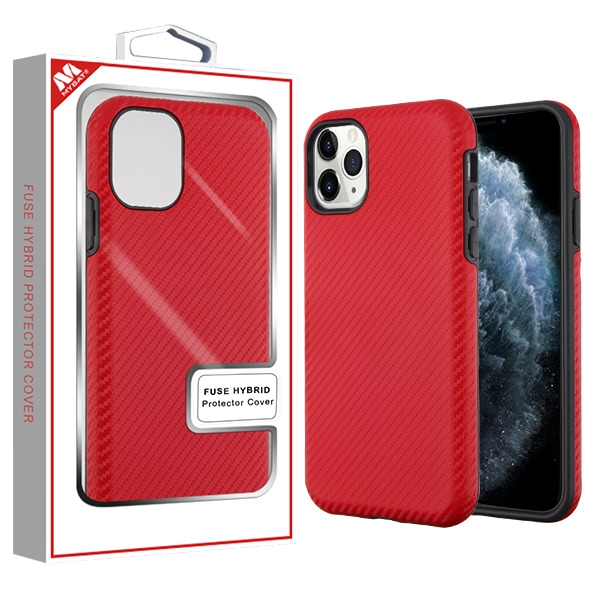 Red Carbon Fiber Texture/Black Fuse Hybrid Protector Cover (with Package)