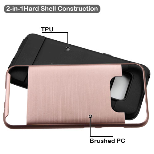 miniature 21 - For Samsung Galaxy S8 Brushed Rugged Hybrid Phone Protector Hard Case Cover