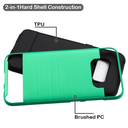 miniature 12 - For Samsung Galaxy S8 Brushed Rugged Hybrid Phone Protector Hard Case Cover
