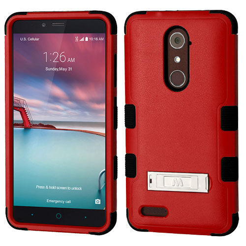 For Zte Blade X Max Zmax Pro Tuff Hybrid Phone Shockproof