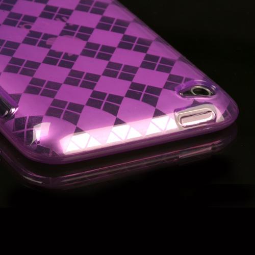 APPLE iPod touch 4th generation Purple Argyle Candy Ski