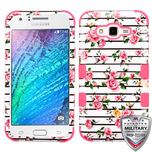 MYBAT Pink Fresh Roses/Electric Pink TUFF Hybrid Phone Protector Cover [Military-Grade Certified]