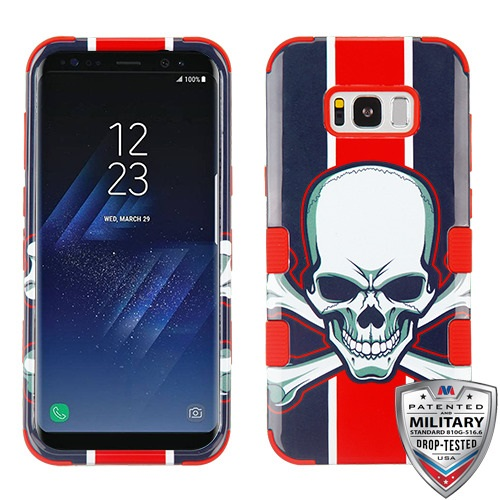 MYBAT UnionJackSkull/Red TUFF Hybrid Phone Protector Cover [Military-Grade Certified](with Package)
