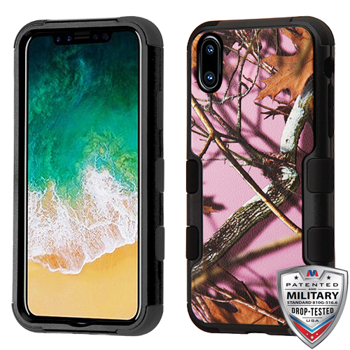 9eaa2ade34f Details about For APPLE iPhone XS X Pink Oak-Hunting Camouflage TUFF Hybrid  Case Cover