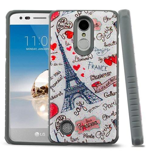 MYBAT Eiffel Tower Love Gel/Iron Gray Glitter Fusion Case