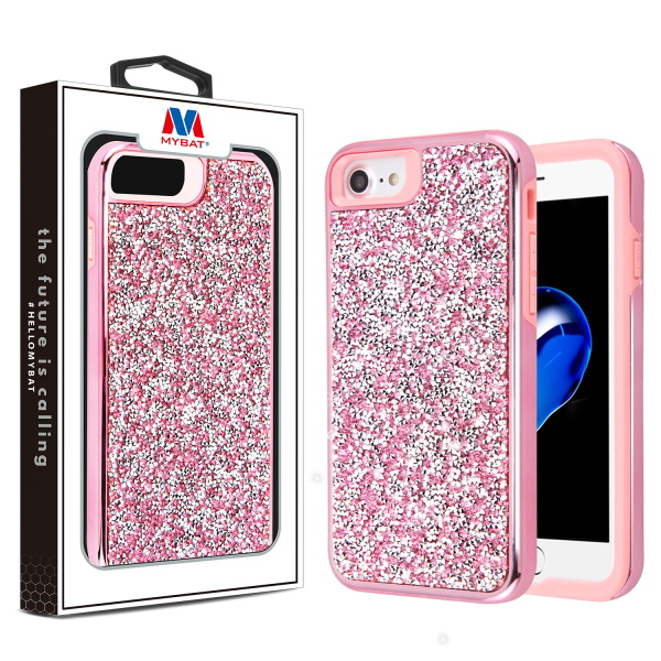 MYBAT Electroplated Pink/Pink Hybrid Protector Cover(with Package)