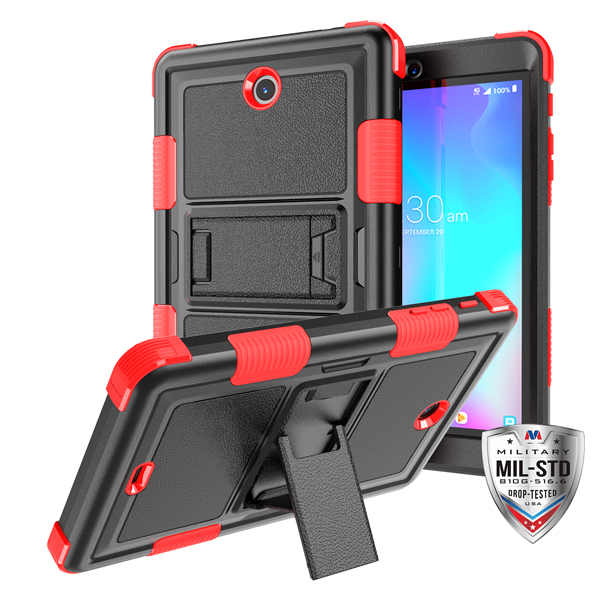 MYBAT Natural Black/Red TUFF Hybrid Protector Cover (with Stand)[Military-Grade Certified](with Package)