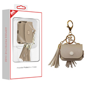 AirPods Pro White Leather Case with Tassel