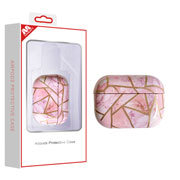 AirPods Pro Pink Electroplated Marbling Protective Case