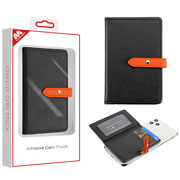 Black Flip Adhesive Card Pouch (with Package)