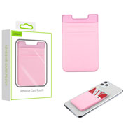 Pink Double-Layer Adhesive Card Pouch