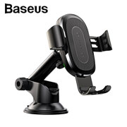 Black Wireless Charger Gravity Car Mount(Osculum Type)