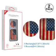 United States National Flag Universal Metal Plate for Magnetic Mount