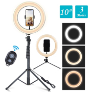 "Mopoint 10"" Selfie Ring Light with Tripod Stand - Black"